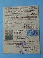 BEAUVAIS -- Carte Identité De L'Association Des Architectes Communaux De 1925 - Mr Brayet Maurice Beauvais - Cartes