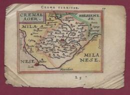 310720 - CARTE GEOGRAPHIQUE Colorisée Vers 1601 XVIIe ITALIE TUSCIA Etrusque CREMA TERRITOR CREMAE AGER CREMA LOMBARDIE - Cartes Géographiques