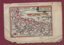 310720 CARTE GEOGRAPHIQUE Colorisée Vers 1601 XVIIe CREMA TERRITOR ITALIE CREMONENSIS AGER VENETIANO - Cartes Géographiques