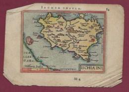 310720 CARTE GEOGRAPHIQUE Colorisée Vers 1601 XVIIe MELITA ISCHIA INSULA ITALIE ILE D'INSCHIA - Cartes Géographiques