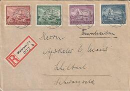 General Gouvernement Lettre Recommandée Warschau Pour L'Allemagne 1943 - Gobierno General
