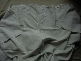 Ancien - Drap Toile De Coton 2 Pans Réunis Années 40 - Bed Sheets