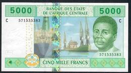 C.A.S. CHAD LETTER C P609Cc 5000 FRANCS 2002 Signature 11    XF   NO P.h. - Stati Centrafricani