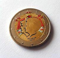 PAYS BAS 2013 - DOUBLE PORTRAIT -  2 EUROS COMMEMORATIVE  -  VERSION COULEUR - Pays-Bas