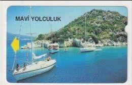 TK 25949 TURKEY - Alcatel 1 Group Bacoded Cards - TR-BC 66  100 U. Blue Voyage - Turquie