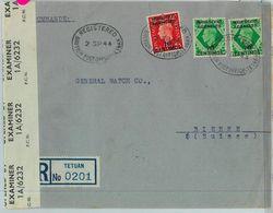 BK0280 -  MOROCCO AGENCIES - POSTAL HISTORY: COVER: TETUAN To SWITZERLAND 1944 - Morocco Agencies / Tangier (...-1958)