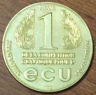 1 ECU G. BELL 04/1993 MEDAILLE SOUVENIR JETON EURO MÉDAILLE SOUVENIR MEDALS COINS TOKENS - Monétaires / De Nécessité