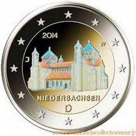 """ALLEMAGNE 2014 - ATELIER """"J"""" - COULEUR HOLOGRAMME  - NIEDERSCHASEN -  2 EUROS COMMEMORATIVE  -  COULEUR - [11] Collections"""