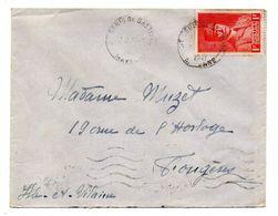 1947--Lettre De St DENIS DE GASTINES-53 Pour FOUGERES-35,type Pétain N° 472 Seul Sur Lettre..cachets - Postmark Collection (Covers)