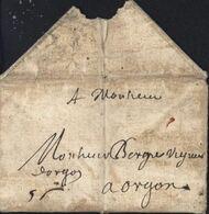 Lettre De Paris 1664 Pour Orgon Bouches Du Rhône Taxe Manuscrite 5s - Marcophilie (Lettres)