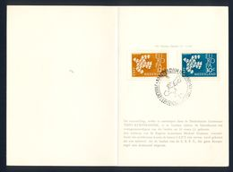 NETHERLAND 1961 - Europa First Day, Stamps And Commemorative Cancel. - Europa-CEPT