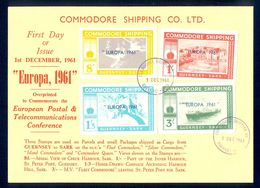 GUERNSEY SARK - Firs Day Issue 1st December 1961 - Commodore Shiping Co LTD. Nice Commemorative Stamps And Cancel. - Europa-CEPT