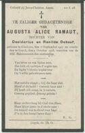 BP Ramaut Augusta Alice (Geluwe 1907 - Gooik 1918) - Alte Papiere