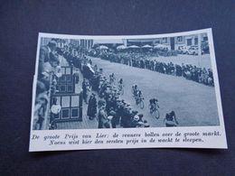 """Origineel Knipsel ( 5441 ) Uit Tijdschrift """" De Stad """"  1937 :   Wielerkoers  Renner  Coureur  Lier   Lierre - Vieux Papiers"""