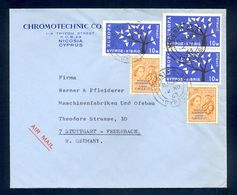 CYPRUS - Cover Sent By Air Mail From Cyprus To Germany 1963. Franked With Three Europa-CEPT Stamp - Europa-CEPT