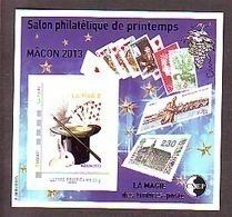 BLOC CNEP 2013 N° 63 ** SALON PRINTEMPS MACON MAGIE LAPIN CARTES  CHAPEAU AVEC TP MONTIMBRAMOI - CNEP