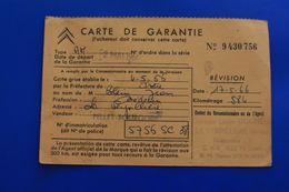 LA VERPILLERE 38 CITROËN VÉHICULE VOITURE AUTOMOBILE CARTE DE GARANTIE De 1966- 584 KM -IMMATRICULATION 5756 SC 38 - Cars