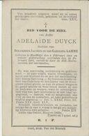 BP Duyck Adelaïde (Sleidinge 1801 - 1891) - Alte Papiere