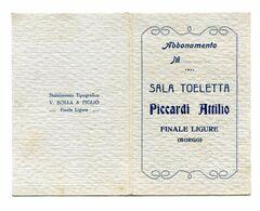 TESSERA APERTA-SALA TOELETTA-PICCARDI ATTILIO-STABILIMENTO TOPOGRAFICO-V.BOLLA & FIGLIO-FINALE LIGURE - Old Paper