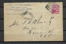CAP DE BONNE  ESPERANCE   -       1901 . Belle  Enveloppe  Avec Cachet De Censure - South Africa (...-1961)