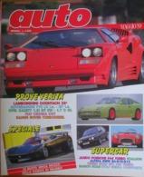 AUTO - N.5 - MAGGIO 1989 - ANNO V - OPEL KADETT - LAMBORGHINI COUNTACH 25° - AUTOBIANCHI Y10 - FIAT CROMA  CHT - Moteurs