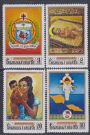 Samoa Mandat  N° 270 / 73   XX Noël : Les 4 Valeurs Sans Charnière, TB - Samoa