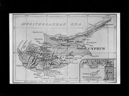 - CHYPRE CIPRO CYPRUS - ARPASOS LIMASSOL CARTE PLAN 1953  Correspondance Millitaire - Carte Topografiche