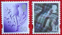 50p + 81p Distel Tartan Scotland (Mi 100-101) 2008 POSTFRIS MNH ** ENGLAND GRANDE-BRETAGNE GB GREAT BRITAIN - Regionali