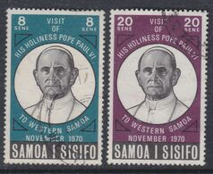 Samoa Mandat  N° 274 / 75 O Visite De Paul VI : Les 2 Valeurs Oblitérées, TB - Samoa