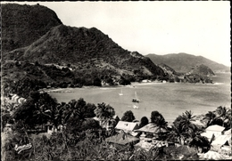 Cp Guadeloupe, Les Saintes, Terre D'en Haut, Anse Du Fond Curé Et Le Chameau Vus Du Calvaire - Otros
