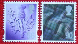 56p + 90p Distel Tartan Scotland (Mi 106-107) 2009 POSTFRIS MNH ** ENGLAND GRANDE-BRETAGNE GB GREAT BRITAIN - Regionali