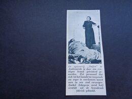 """Origineel Knipsel ( 5455 ) Uit Tijdschrift """" De Stad """"  1937 : Brand   Spinnerij  Audenaerde  Audenarde  Oudenaarde - Vecchi Documenti"""