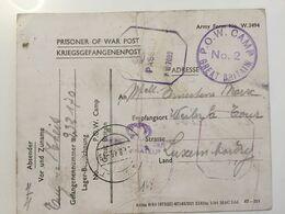 Luxembourg Carte Prisoner Of War Post 1945 Aspelt POW Camp No 2 Avec Censure - 1940-1944 Occupation Allemande
