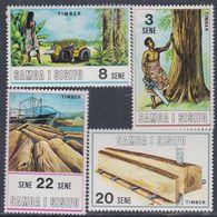Samoa Mandat  N° 274 / 79 XX Industrie Du Bois Dans L'île De Savaii: Les 4 Valeurs Sans Charnière, TB - Samoa