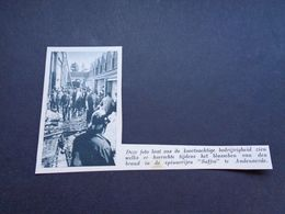 """Origineel Knipsel ( 5457 ) Uit Tijdschrift """" De Stad """"  1937 : Brand   Spinnerij  Audenaerde  Audenarde  Oudenaarde - Vecchi Documenti"""