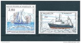 Timbres De St Pierre Et Miquelon  De 1988  N°492 Et 493  Neufs ** Parfait - Unused Stamps