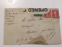 Luxembourg Lettre 1916 Etats-Unis Avec Censure - Luxembourg