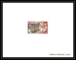 France - N°1938 Abbaye De Fontenay Côte D'Or (église Church) épreuve De Luxe (deluxe Proof) - Epreuves De Luxe