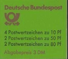 BRD  MARKENHEFTCHEN  MH 24 F OZ, Postfrisch, Burgen Und Schlösser 1984 - BRD