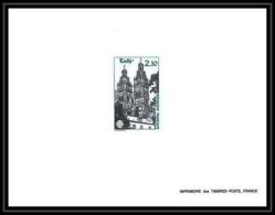 France - N°2370 Fédération Des Sociétés Philatéliques Tours Cathedrale Eglise Church 1985 épreuve De Luxe (deluxe Proof) - Epreuves De Luxe