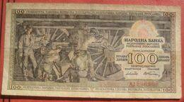 100 Dinara 1953 (WPM 68) - Jugoslawien