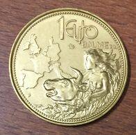 1 EURO BALME 1997 MEDAILLE SOUVENIR JETON MEDALS COINS TOKENS - Monétaires / De Nécessité