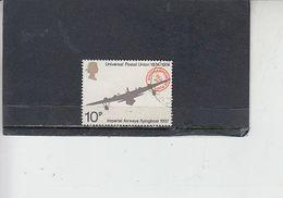 GRAN BRETAGNA  1974 - Unificato 728° - UPU - Aereo - Gebruikt