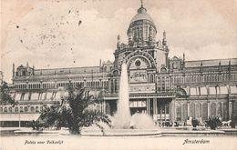 Pays Bas Amsterdam Paleis Voor Volksvlijt + Timbre Cachet 1906 - Amsterdam