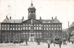 Pays Bas Amsterdam Paleis H.m. Tram Tramway + Timbre Cachet 1906 - Amsterdam