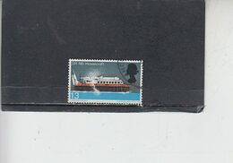 GRAN BRETAGNA  1966 - Unificato 451° - Tecnologia - Hovercraft - 1952-.... (Elisabetta II)