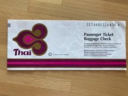 THAI AIRWAYS TICKET 09SEP07 MUNICH BANGKOK SUVARNABHUMI DENPASAR BALI BANGKOK SUVARNABHUMI FRANKFURT - Tickets