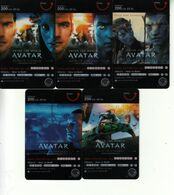 5 X Thailand Phonecard Happy DPrompt Movie Film Cinema AVANTAR - Film