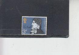 GRAN BRETAGNA  1971 - Unificato  640° - Keats - Gebruikt