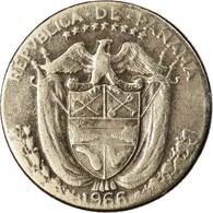 Monnaie, Panama, 1/10 Balboa, 1966, TB, Copper-Nickel Clad Copper, KM:10 - Panama